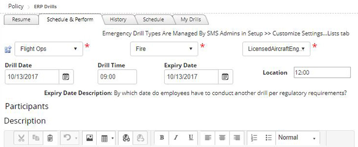 ERP Drills in the Automation Tool